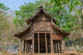 Ancient buddhist temples built of wood Royalty Free Stock Photo
