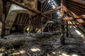 Ancient building decayed of former russian barracks in eastern germany Stock Photo