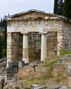 Ancient building at Delphi, Greece Royalty Free Stock Images