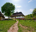 The ancient building in the national park ukrainian folk architecture pirogovo any photography is not prohibited Royalty Free Stock Photo