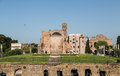 Ancient building in rome an brick by the roman coliseum Royalty Free Stock Photo