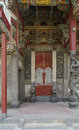 Ancient buildings door carving and painting of the temple a in it in china Royalty Free Stock Images