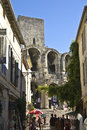 Ancient Bullfight stadium in Arles, France