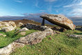 Ancient burial site coetan arthur dolmen near st davids head pembrokeshire Royalty Free Stock Photography