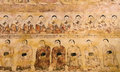 Ancient Burmese mural Stock Photos