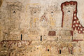 Ancient burmese mural in bagan temple myanmar Stock Photography