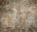 Ancient burmese mural in bagan temple myanmar Royalty Free Stock Images