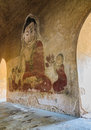 Ancient Burmese mural, Myanmar Royalty Free Stock Photo