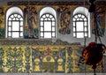 Ancient Byzantine mosaics in Bethlehem temple. Royalty Free Stock Photo