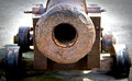 Ancient cannon in the city of gijon Royalty Free Stock Images