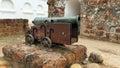 Ancient cannon melaka in malaysia Royalty Free Stock Photos