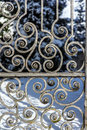 Ancient Cast Iron Gate Royalty Free Stock Photo