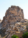 Ancient castle in Cappadocia Royalty Free Stock Photo