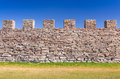 Ancient castle defense wall Royalty Free Stock Photo