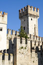 Ancient castle in Sirmione, on Garda Lake, Italy Stock Photo
