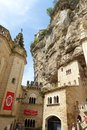 Ancient cathedral rocamadour france notre dame de celebrates jubilee a photograph of the sacred site of the our lady of the most Royalty Free Stock Photo