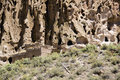 Ancient Cave Cliff Dwelling in Bandalier National Monument New Mexico Royalty Free Stock Photo