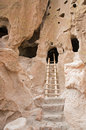 Ancient cave dwellings Stock Photography
