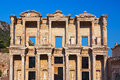 Ancient Celsius Library in Ephesus Turkey Royalty Free Stock Photography