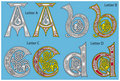 Ancient Celtic alphabet Royalty Free Stock Photo