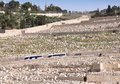 Ancient Cemetery at Mount of Olives. Jerusalem Royalty Free Stock Photo
