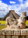 Ancient Chac Mool Chichen Itza figure Mexico Royalty Free Stock Photos