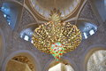 Ancient chandelier at Sheikh Zayed Grand Mosque in Abudhabi Royalty Free Stock Photo