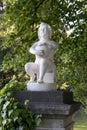 Ancient Cherub Sculpture In La...