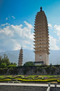 Ancient chinese buddhist pagoda in dali city yunnan province of china Royalty Free Stock Photo