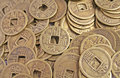 Ancient Chinese Coins in a Pile Stock Images