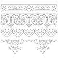 Ancient Chinese Pattern Frames Border set Royalty Free Stock Photo