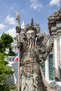 The ancient chinese warrior statues at thailand Stock Images