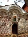 Ancient Christian church with old bricks walls. History religion stock photo Royalty Free Stock Photo