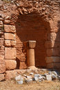 Ancient christian ruins in Delphi Stock Photography