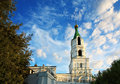 Ancient church current aged orthodox of boris and gleb in ryazan Royalty Free Stock Images