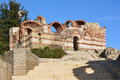 Ancient church in old town Nesebar, Bulgaria Royalty Free Stock Photo