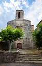 Ancient church in pubol catalonia spain Stock Photos