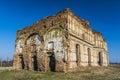 Ancient church ruins beeing demolished chiajna monastery Stock Photo