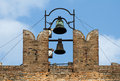 Ancient church tower and carillons Royalty Free Stock Photos