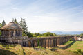 Ancient Cistern and Aqueduct with Copy Space Royalty Free Stock Photo