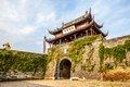 Ancient city gate pan gate the was one of main in suzhou it is consists of water and land Royalty Free Stock Photos