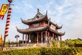 Ancient city gate pan gate the was one of main in suzhou it is consists of water and land Royalty Free Stock Photo