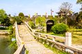 Ancient city gate pan gate the was one of main in suzhou it is consists of water and land Royalty Free Stock Images