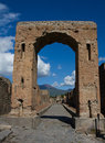 Ancient city gate of Pompeii Stock Photo