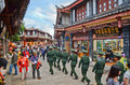 Ancient city of Lijiang , China Stock Photo