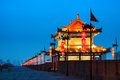 Ancient city wall night xi china Royalty Free Stock Images