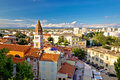 Ancient city of Zadar aerial view Royalty Free Stock Photo