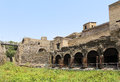 Ancient civilization site old architecture of old city of pompeii Royalty Free Stock Image