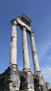 Ancient civilization temple pillar in rome italy forum romanum Royalty Free Stock Photos