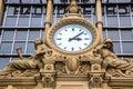 Ancient Clock in Frankfurt Bahnhof Royalty Free Stock Photo